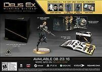 Deus Ex: Mankind Divided -- Collector's Edition (Microsoft Xbox One, 2016)-READ