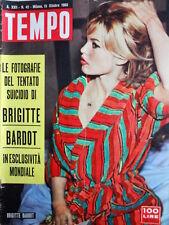 TEMPO n°42 1960 foto esclusive del tentato suicidio di Brigitte Bardot  [C86]