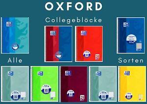 Original Oxford Collegeblock DIN A4+DIN A5 Alle Sorten !! Große Auswahl !!