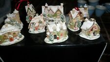 lilliput lane christmas decorations / houses 9 in total