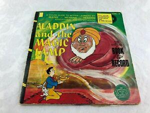 VINTAGE ALADDIN & THE MAGIC LAMP BOOK & RECORD - DISNEYLAND