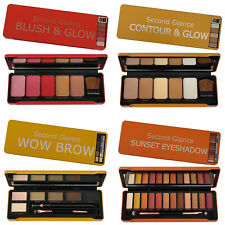 Make Up Set Gift New Pack of 4 Palettes Sets Eyes Contour Brows Blusher Glow