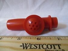 Vintage fisher Price Musical Instrument part crazy horn combo recorder Flute red