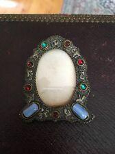 Antique Czech Jeweled Frame