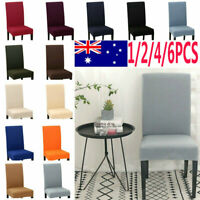 4/6 pcs Knit Dining Chair Stretch Covers - Removable Washable Slipcovers Home