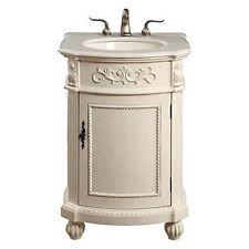 Elegant Lighting Vf-1010 Vanity Cabinet 1 Door 24inx22inx36in Antique White- New
