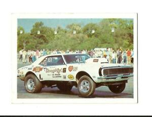 1971 FLEER AHRA TRADING CARD: Bill Jenkins' GRUMPY TOY 1969 Camaro Super Stock