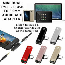 Mini Dual Tipo-C USB A 3.5mm Aux Jack Adaptador de Auriculares/Conector Para