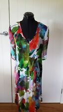 Kathleen Berney multi-coloured long see through tunic  Size L