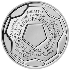 Deutschland - 20 Euro 2021 - Fußball-Europameisterschaft 2020 - 18 gr Silber ST