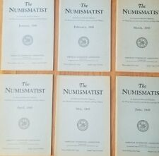The ANA Numismatist - 1943 - Original Blue Covers - Full Year - Volume 56