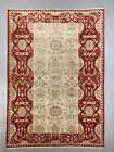 Fine Afghan Wool Ziegler Rug 313x220 cm Handmade Chobi Rug Red, Beige
