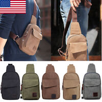 Anti-Theft Men Chest Messenger Sling Bag Casual Shoulder Small Crossbody Bags US