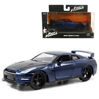Jada 1:32 Fast & Furious Die-Cast Brian's 2009 Nissan GT-R R35 Car Model Collect
