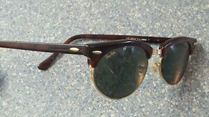 Ray Ban Brown Classic Vintage Bausch & Lomb B+L USA Sunglasses Glass Lens
