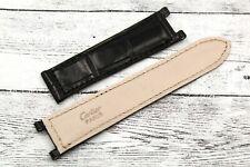 Cartier Pasha Cinturino Nero 20mm Elegante Vera Pelle Coccodrillo NEW Deployante