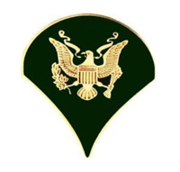 Army Specialist 4 Rank Insignia Lapel Pin - 14475 (1 inch) Licensed by HMC