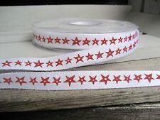 Acufactum nastro ornamentali, gioielli webband 1 cm di larghezza, banda stampata, stelle