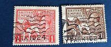 Grande Bretagne N° 171/2. 1 p Et 1/1/2 p  Rouge Et Brun Obli TB  Cote 32€