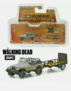 Greenlight The Walking Dead TWD Michonne's Jeep Wrangler & Trailer 1/64 Scale
