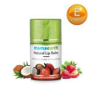 Mamaearth Strawberry Natural Lip Balm With Shea Butter 4.5g