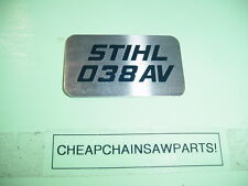 STIHL 038 AV CHAINSAW NAME TAG   NEW ---------------------------- BOX1150