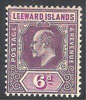 Leeward Islands 1905 purple/brown 6d multi-crown mint SG34