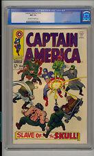 Captain America #104 CGC 9.4 NM Unrestored Marvel Red Skull OFF-WHITE/WHITE Pgs