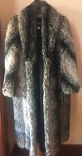 AMAZING OLYMPIA LIMITED INC (MADE IN USA) FULL LENGTH FAUX FUR COAT SZ 10