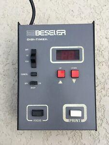 BESELER Digi Timer Darkroom Photo Enlarger Digital Metal TESTED WORKING