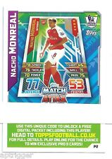 2015 / 2016 EPL Match Attax Live (P2) Nacho NONREAL Arsenal