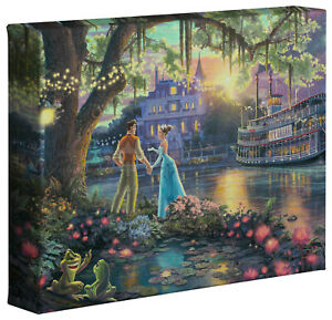Thomas Kinkade Disney Princess and the Frog 8 x 10 Gallery Wrapped Canvas