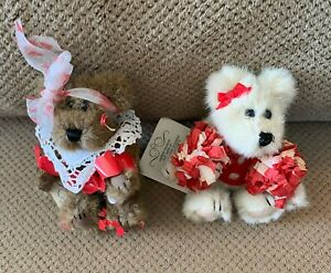 RARE Boyds Judith G. Collection • Cheerleader PomPoms • Valentine Heart Scissors