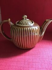 Vintage Fraunfelter Ohio Royal Rochester Lusterware Brown Striped Tea Pot