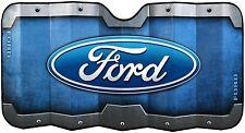Blue Ford Oval Logo Accordion Style Windshield Sunshade Visor New Free Shipping