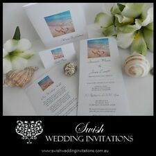 2 Hearts in the Sand Wedding Invitations & Stationery - Invite Samples ONLY $1