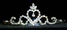 Crowned Heart Rhinestone Crystal Tiara