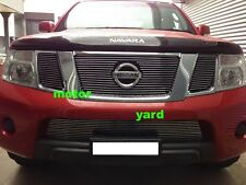 Nissan Navara D40 11-14 Billet Grille Grill (With Badge Hole) Top & Bottom Combo