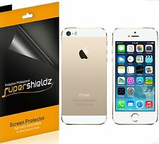 6 Pcs Supershieldz HD Clear Front + Back Screen Protector For Apple iPhone 5S