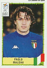 N°170 PAOLO MALDINI ITALY ITALIA PANINI EURO 2000 STICKER VIGNETTE CHROMO