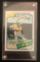 1980 Topps #482 Rickey Henderson MLB HOF Baseball Rookie RC Card