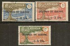 CAMEROUN 1940 WAR RELIEF FUND SG184/6 FINE USED