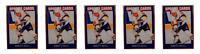(5) 1992 Sports Cards #22 Brett Hull Hockey Card Lot St. Louis Blues