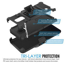 Silicone Case with Belt Clip Holster Stand Cover for Samsung Galaxy Note Ed