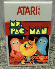 "Ms. Pac Man Atari NES Vintage Game Box  2"" x 3"" Refrigerator Locker MAGNET"