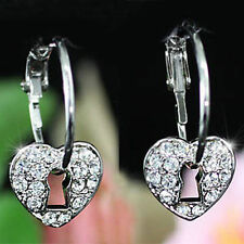 Leverback Hoop Love & Hearts Costume Earrings