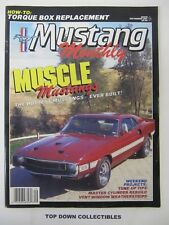 Mustang Monthly Magazine  September 1987   Al Cherry, His Way Down The Highway