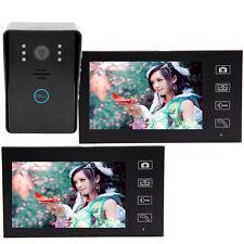 """2.4G 7"""" Doorbell Video Door Phone DoorBell Intercom System 2-Monitor IR Camera"""