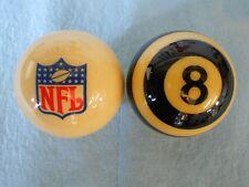 NOS New! Original Aramith NFL Cue and Referee 8 Ball Set!  Pool Billiard