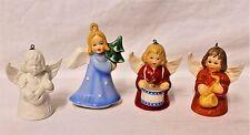 Lot of 4 Goebel Angel Ornaments/Bells 1977, 1979, 1980,1984